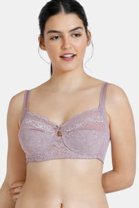 Buy Zivame True Curv Double Layered Non Wired 3/4th Coverage Sag Lift Bra - Purple