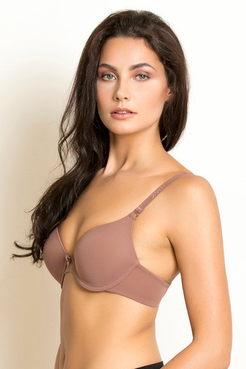 e43b474fe4a Buy Zivame Padded Moderate Lift Push Up T-shirt Bra - Beige at Rs ...