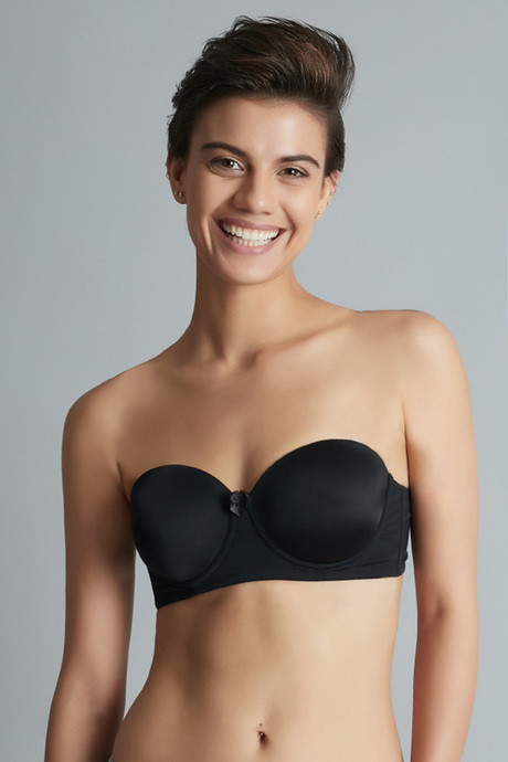 3d2981730e319 Buy Zivame Smooth Finish Underwired Strapless Bra- Black at Rs.499 ...