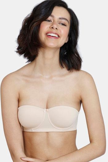 model image of Zivame Padded Wired Strapless Bra - Skin