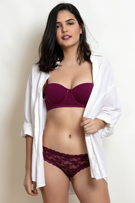 214a43d2c3 Buy Zivame Padded Wired Strapless T-Shirt Bra - Purple at Rs.500 ...