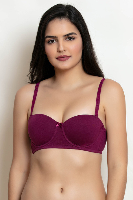 357637d94 Buy Zivame Padded Wired Strapless T-Shirt Bra - Purple at Rs.410 ...