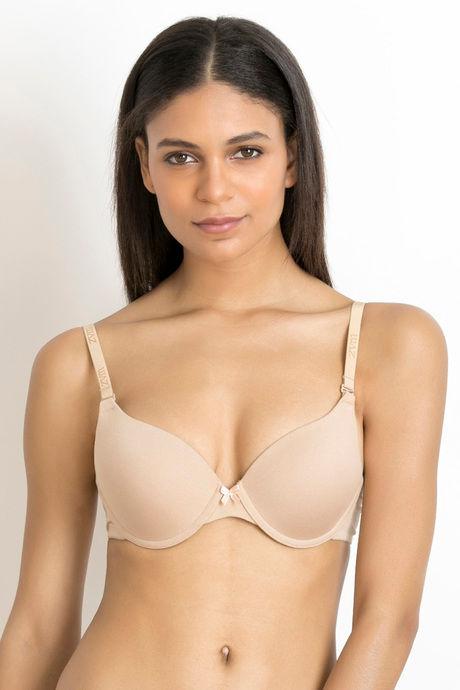 Buy Zivame Padded Moderate Lift Push Up Bra - Skin at Rs.447 online ... be7542b0b