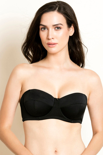 Buy Zivame Beautiful Basics Strapless Curvy Bra - Black