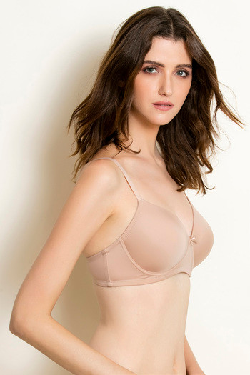 Buy Zivame Beautiful Basics Wirefree Bra- Skin at Rs.498 online ... b9840bf3e