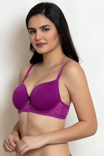 1986d2f41 Buy Zivame Beautiful Basics Underwired T-Shirt Bra -Purple at Rs.348 ...