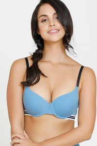 5f5e2cfc63e Buy Zivame Varsity Padded Wired Push Up T-shirt Bra - Blue