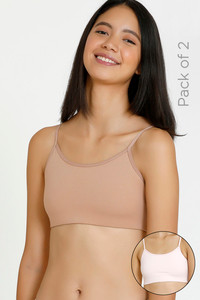 Buy Zivame GRL Double Layered Non Wired 3/4th Coverage Bra - Pink Roebuck
