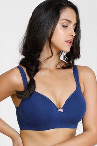 639ec995a Buy Zivame Summer Love Wire Free T-Shirt Bra - Navy