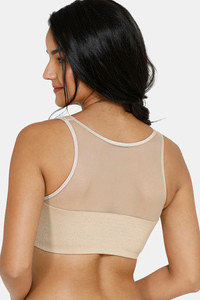 Buy Zivame BlouzeTM Padded Wired Full Coverage Pretty Back Bra-Cuban Sand