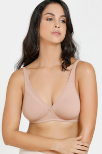 Buy Zivame Double Layered Non Wired Full Coverage Mastectomy Bra-Skin