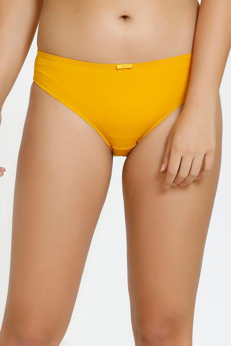official site online shop dirt cheap Zivame Vintage Lace Low Rise Bikini Panty - Yellow