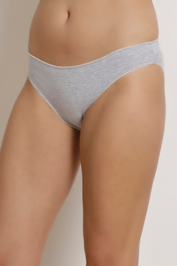 94543fe20d Buy Zivame Mid Rise Bikini Panty - Grey at Rs.244 online