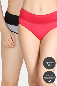 Buy Zivame (Pack of 2) Tummy Tucker Hipster High Rise Anti-Microbial Panty - Rose Anthracite