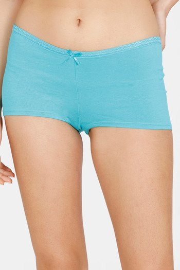 model image of Zivame Mid Rise Full Coverage Antimicrobial Boy Short Panty -Ceramic