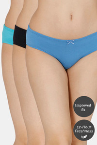 Buy Zivame (Pack of 3) Hipster Low Rise Anti-Microbial Panty - Anthracite Pacific Ceramic