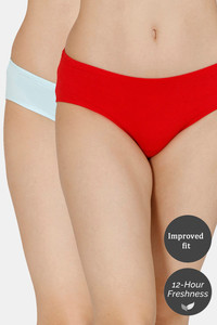 Buy Zivame (Pack of 2) Hipster Full Rise  Anti-Microbial Panty - Cherry Water
