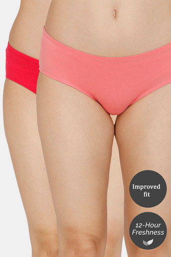 Zivame  Pack of 2  Hipster Full Rise Anti Microbial Panty  Tea Rose