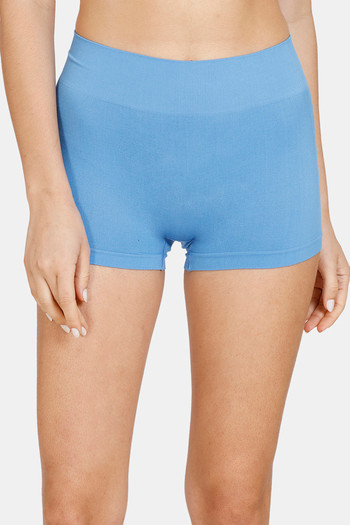 model image of Zivame Mid Rise Full Coverage Antimicrobial Boy Short Panty - Pacific Coast