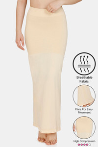 Buy Zivame High Compression Flared Mermaid Saree Shapewear- Skin