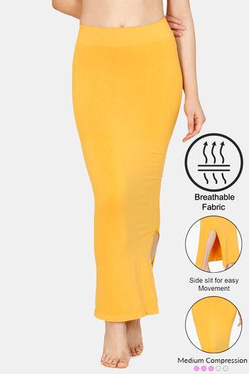 ce4089bf03 Buy Zivame Medium Control Mermaid Saree Shapewear ™-Mustard