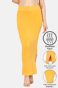 Buy Zivame High Compression Slit Mermaid Saree Shapewear - Mustard