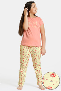 Buy Zivame GRL Knit Cotton Pyjama Set - Yellow