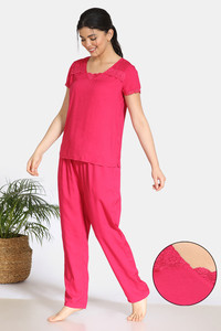 Buy Zivame Bridal Trousseau Rayon Pyjama Set - Pink