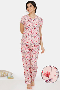 Buy Zivame Tree of Life Rayon Pyjama Set - Pink