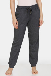 Buy Zivame Poly Cotton Joggers  - Black