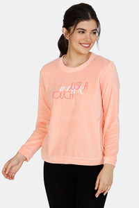 Buy Zivame Velveteen Velour Polyester Sweat-Shirt - Pink