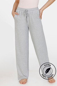 Buy Zivame Lounge Viscose Blend Straight Fit Pants - Grey