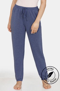 Buy Zivame Lounge Viscose Blend Slouchy Joggers - Navy Blue