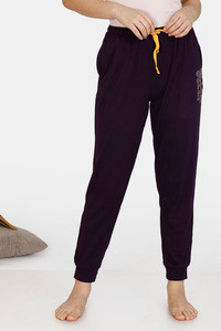 Buy Zivame Heritage Tribe Poly Elastane Pyjama - Purple