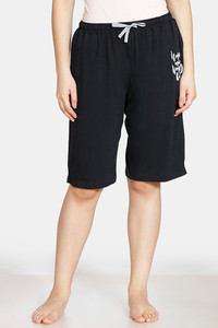 Buy Zivame Doodle Cotton Shorts - Anthracite