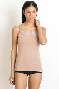 Buy Zivame Square Neck Camisole- Skin
