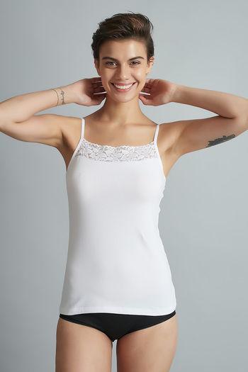 model image of Zivame Square Neck Camisole- White