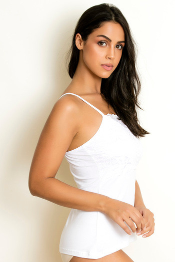 2f444a5b0d Buy Zivame High Neck Lacy Camisole- White at Rs.499 online ...
