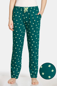 Buy Zivame Pretty Pigs Cotton Pyjama - Green
