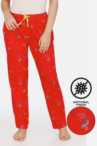 Buy Zivame Queen Bee Antiviral Finish Cotton Pyjama - Red