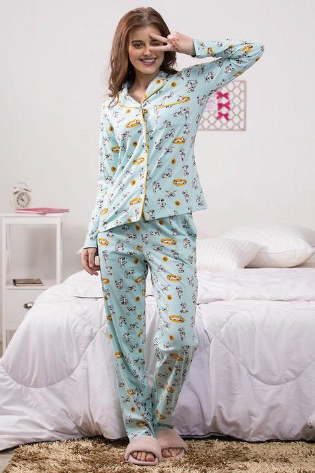 Zivame Pup World Top N Pyjama Set - Blue - Buy 1 Get 1