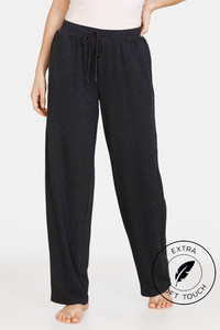 Buy Zivame Lounge Viscose Blend Straight Fit Pants - Anthracite