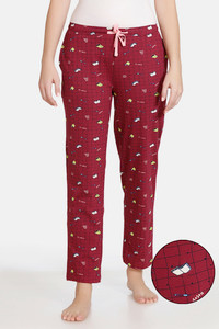 Buy Zivame Crossword Cotton Pyjama - Rhododendron