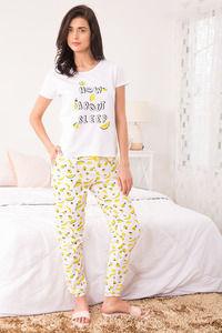 1dccc20b047 Buy Zivame Tropical Fizz Top N Pyjama Set- White and Print at Rs.907 ...