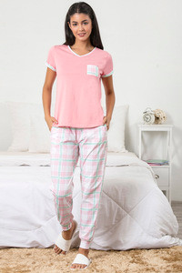 Buy Zivame Chic Checks Top N Pyjama Set - Pink N Print 9ff2c5ff6