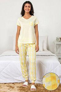 6e0512252b Buy Zivame Chic Checks Top N Pyjama Set-Yellow N Print