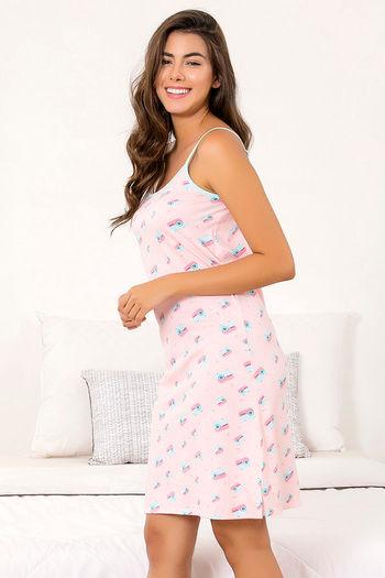 5f96a1712 Buy Zivame Retro Gadget Sleep Dress -Pink N Print at Rs.398 online ...