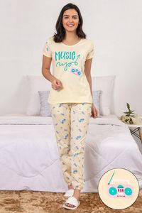 e1e6ad7f0e36 Buy Zivame Retro Gadgets Sleep Top N Pyjama Set- Yellow N Print