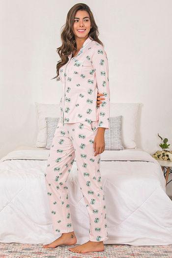 d8c1adf70 Buy Zivame Retro Gadget Top N Pyjama Set - Pink N Print at Rs.1595 ...