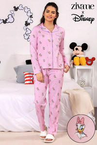 Buy Zivame X Disney Daisy Duck Top N Pyjama Set - Pink N Print 76aa2e049